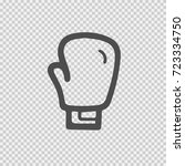 boxing glove ector icon eps 10. ... | Shutterstock .eps vector #723334750