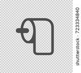 toilet paper vector icon eps 10.... | Shutterstock .eps vector #723334840