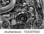 car engine  concept of modern... | Shutterstock . vector #723337033