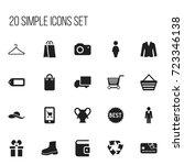 set of 20 editable shopping...
