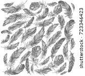 feather pattern | Shutterstock . vector #723346423