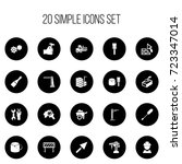 set of 20 editable building...