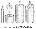 candle illustration  drawing ... | Shutterstock .eps vector #723349084