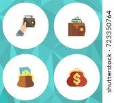 flat icon purse set of finance  ... | Shutterstock .eps vector #723350764