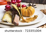 thanksgiving setting table...   Shutterstock . vector #723351004