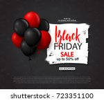 black friday sale background... | Shutterstock .eps vector #723351100