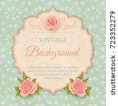 beautiful design of greeting... | Shutterstock .eps vector #723352279