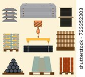 storage and stacking of... | Shutterstock .eps vector #723352303