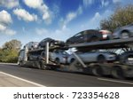 the trailer transports cars on