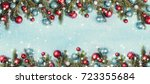 christmas presents under a... | Shutterstock . vector #723355684