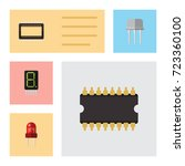 flat icon device set of... | Shutterstock .eps vector #723360100