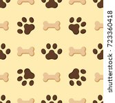 dog or cat paw dog footprint... | Shutterstock .eps vector #723360418