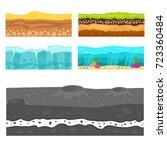 illustration of cross section... | Shutterstock .eps vector #723360484