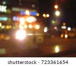 night city blurred | Shutterstock . vector #723361654