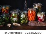 preserved salted vegetables...   Shutterstock . vector #723362230