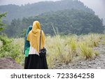muslim girls in indonesia | Shutterstock . vector #723364258