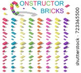 colored building blocks of... | Shutterstock .eps vector #723365500