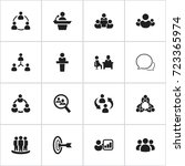set of 16 editable team icons....