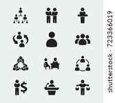 set of 12 editable business... | Shutterstock .eps vector #723366019