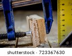 old good carpentry  tools drill ... | Shutterstock . vector #723367630