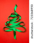 christmas tree made of green...   Shutterstock . vector #723368950