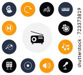 set of 13 editable mp3 icons....