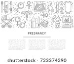 vector icons pregnancy ... | Shutterstock .eps vector #723374290