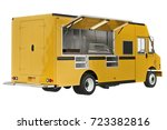 food truck mobile yellow cafe.... | Shutterstock . vector #723382816