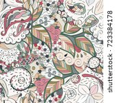 tracery seamless pattern.... | Shutterstock .eps vector #723384178