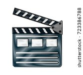 clapperboard cinema icon image  | Shutterstock .eps vector #723386788