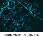 abstract geometry surfaces ... | Shutterstock . vector #723387418