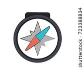 compass navigation icon image  | Shutterstock .eps vector #723388834