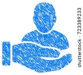 grunge user support hand icon... | Shutterstock . vector #723389233