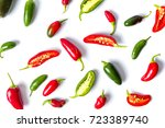 Colorful Jalapenos Peppers On...