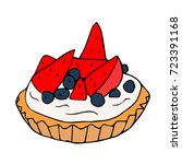 cake illustration. doodle style.... | Shutterstock . vector #723391168