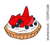 cake illustration. sweet cake... | Shutterstock . vector #723391168