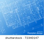 floor plan blueprint | Shutterstock .eps vector #72340147