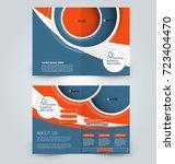 fold brochure template. flyer... | Shutterstock .eps vector #723404470