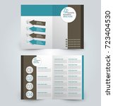 fold brochure template. flyer... | Shutterstock .eps vector #723404530