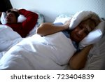 old man snoring | Shutterstock . vector #723404839