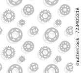 gears and sprockets seamless... | Shutterstock .eps vector #723405316