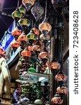 arabic turkish lantern hanged...   Shutterstock . vector #723408628