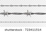 barbed seamless on a... | Shutterstock .eps vector #723411514