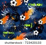 football seamless pattern on...   Shutterstock .eps vector #723420133