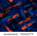 abstract seamless pattern with... | Shutterstock .eps vector #723422779
