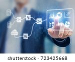 data management system  dms ... | Shutterstock . vector #723425668