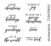 happy holidays  merry christmas ... | Shutterstock .eps vector #723425833