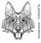 the head of a dog. german... | Shutterstock .eps vector #723426976