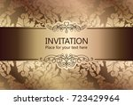 abstract background with luxury ... | Shutterstock .eps vector #723429964