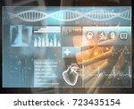 media medicine background image ... | Shutterstock . vector #723435154